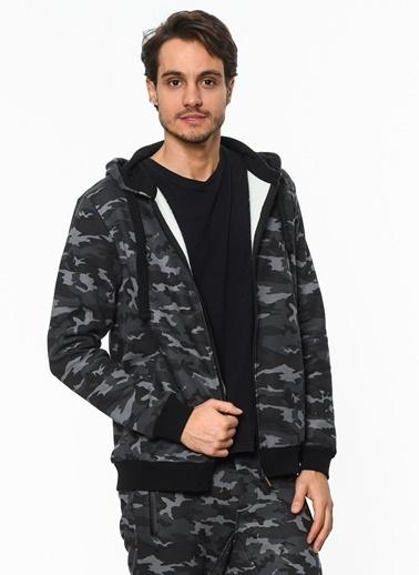 Kapüşonlu Fermuarlı Sweatshirt-Bad Bear